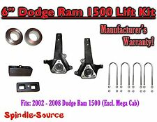"2002 - 2008 Dodge Ram 1500 2WD 6"" Front 2"" Rear Spindle Coil Block Lift Kit"
