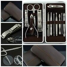 12Pcs Men/Women Nail Care Personal Manicure & Pedicure Set Travel & Grooming Kit