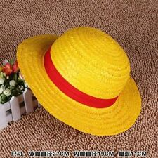 ONE PIECE CAPPELLO DI PAGLIA RUBBER LUFFY COSPLAY RUFY CAP HAT ANIME MANGA #2