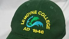 Lemoyne College Baseball Hat Adjustable Physical Plant College Green 1946 Work