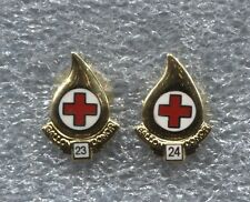 RED CROSS BLOOD DONOR 23 & 24 GALLON PINS, NEW