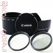 58mm Lens Filter Adapter Tube + UV CPL hood cap set for Canon PowerShot G15 G16