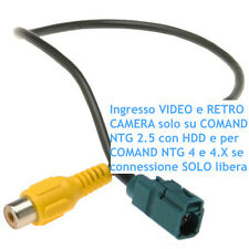 Cavo VIDEO IN ingresso retro camera MERCEDES NTG2.5 HDD NTG4 NTG4.X rear camera