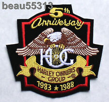 HARLEY DAVIDSON OWNERS GROUP 5th 1983-1988 ANNIVERSARY HOG VEST JACKET PATCH