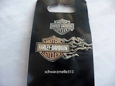 HARLEY  DAVIDSON  USA BAR & SHIELD FLAME PIN  NEU