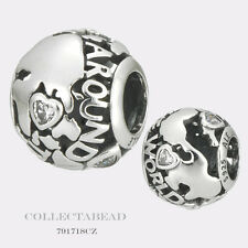 Authentic Pandora Sterling Silver Around The World Bead 791718CZ