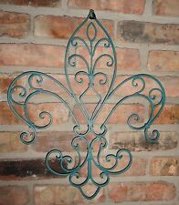 Fleur de Lis, Metal decor, iron work, Shabby & Chic, Wall Decor, Beach Decor