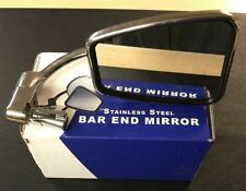 Bar End Mirror Stainless Steel Classic Bike Cafe Racer Etc