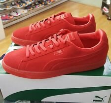 PUMA SUEDE EMBOSS ICED 361664 03 HIGH RISK RED MENS US SZ 13