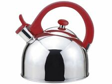 Magefesa 2.1-Quart Acacia Stainless Steel Tea Kettle, Red