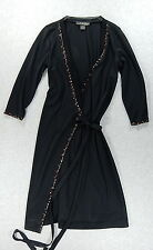 Nicole Miller 3/4 Sleeve Wrap Dress (Women's Size Medium) Polyester - Black