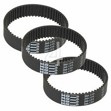 3 x Toothed Rubber Planer Driver Belt for Black & Decker KW715 KW713 BD713 BD715
