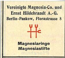 Vereinigte Magnesia-Co und Ernst Hildebrandt A.G. Berlin Trademark 1912