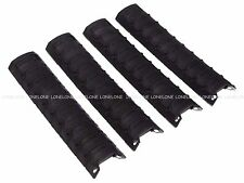 China Made Airsoft Polymer 160mm Long 4 Pcs Rail Cover For 20mm - Black #4B