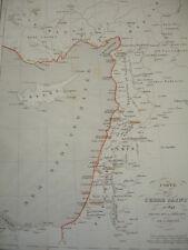 CARTE DE LA TERRE SAINTE en 1849