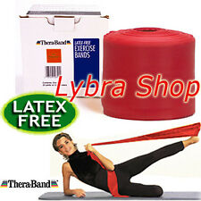 TheraBand FASCIA ELASTICA LATEX FREE ROSSO (media resist) 1,5 mt Banda Pilates