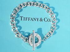 Tiffany & Co Sterling Silver Toggle Charm 7.5 Inch Bracelet - (Ideal for Charms)