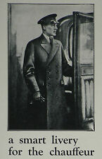 Alfred Dunhill Motor Clothing Smart Livery Chauffeur 1929 Advertisement Ad 7583