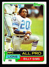 1981 TOPPS #100 BILLY SIMS LIONS ROOKIE