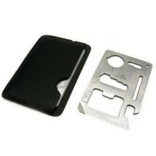 Pocket Mini 11 in 1 Multi Credit Card Survival opener Saw blade Outdoor Tool
