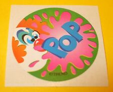 Vintage TREND Scratch n Sniff BUBBLEGUM GUM Scent POP Clown STICKER