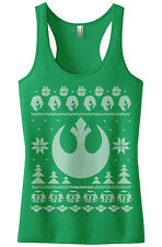 Light Side of the Force Star Wars Ugly Sweater Women's Racerback Tank Top