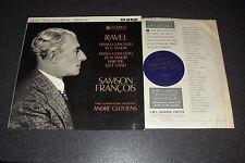 Columbia 33CX 1747 (SAX 2394) B/Gold: RAVEL Piano Concertos: FRANCOIS: CLUYTENS