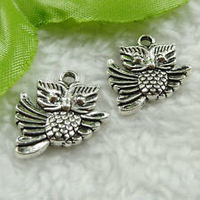 Free Ship 140 pieces tibet silver owl charms 20x17mm #1471