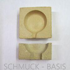Set: Schmelztiegel / Schmelzschale plus  Deckel; 50 mm; für Gold, Silber, Zinn..