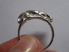Ladies Unique Delicate 925 Sterling Silver Cougar - Puma - Panther Ring Size 6