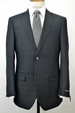 Men's 2 Button Slim-fit Charcoal Gray Check Suit SIZE 40R NEW