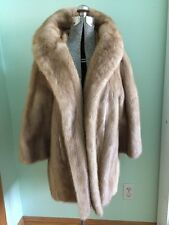 Vintage Mink Fur Coat Cape Jacket Wrap Blonde Capelet Formal Wedding