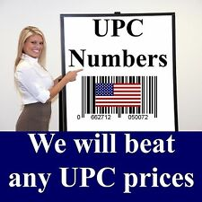 1000 UPC EAN GS1 Barcode Numbers - READ this before buying FAKE UPC numbers