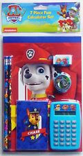 PAW PATROL CHASE 7-Pc. Back-to-School Stationery & Calculator Supplies Set  $12