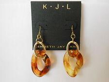 New KJL Kenneth Jay Lane Multi Chain Link Tortoise Dangle Earrings Buy 1 Get 1