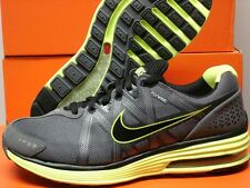 NIKE LUNARMX+ GREY BLACK VOLT RUNNING Sz 10 Mens IPOD