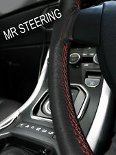 FOR MERCEDES E CL W211 02-09 LEATHER STEERING WHEEL COVER DARK RED DOUBLE STITCH