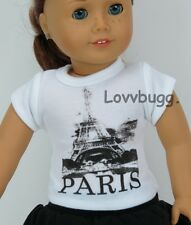 """Paris T-Shirt Tower for Bitty Baby & 18"""" American Girl Doll Clothes Lovvbugg!"""