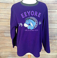 DISNEY STORE EXCLUSIVE EEYORE Womens S Sweatshirt Fleece Purple Sweater L/S 1966