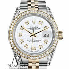 Ladies Rolex Steel and Gold 26mm Datejust White Jubilee Diamond Dial Watch
