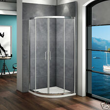 800x800 Quadrant Shower Enclosure Corner Cubicle Glass Door And Stone Tray+Waste