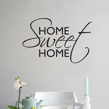 Home Sweet Home Wall Sticker Vinyl Art Home Wall Beautiful Words Letters Decal
