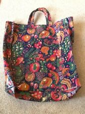 SUPERB VINTAGE LARGE OILCLOTH SHOPPING SHOPPER BAG ? LIBERTY NATIONAL TRUST