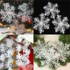 30pcs DIY Popular Christmas Snowflake Charms For Party Home Ornaments Decor TR16