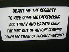 GRANT ME THE SERENITY  sticker for Hot rods, Gasser, Rat Rods