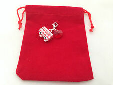 Double Decker / London Red Bus Clip on Charm with Red Gift Bag - FREE P&P