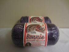 Lot of 2 rolls of Purple 4mm Bonnie Braid Braided Macrame Craft Cord 200yds
