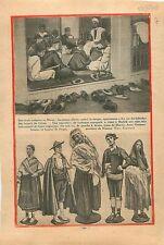 Coran Médersa madrassa Ecole Maroc Morocco / Costumes Espagne 1930 ILLUSTRATION