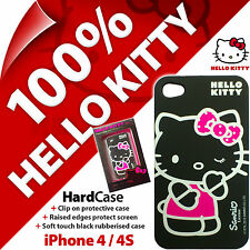 Nouveau hello kitty hard case pour Apple iPhone 4/4S noir slim housse de protection