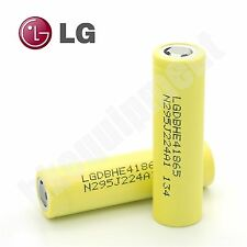 LG HE4 2500mAh IMR18650 20A Li-ion IMR Flat Top 18650 Battery x2